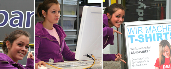 Textildruck Service bei Bandyshirt