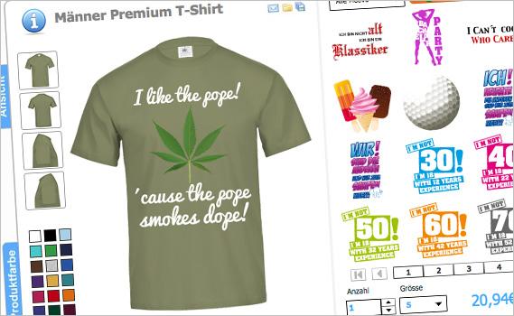 Papst - Motive als Fun-Shirts