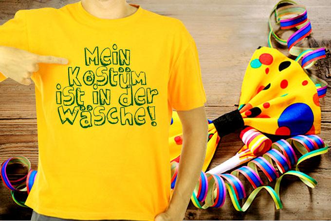 Lustige Karneval Shirts einfach selbst gestalten.