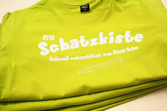 Der T-Shirt Druck von der KITA Schatzkiste