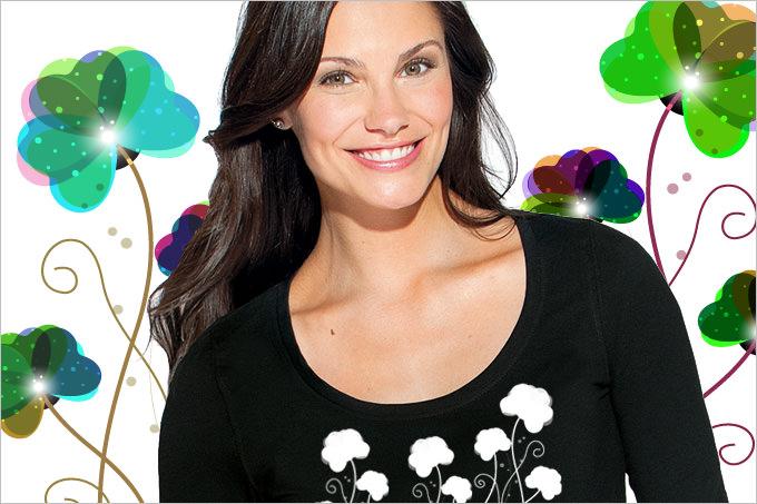 T-Shirts mit Frühlingsmotiven selbstgestalten
