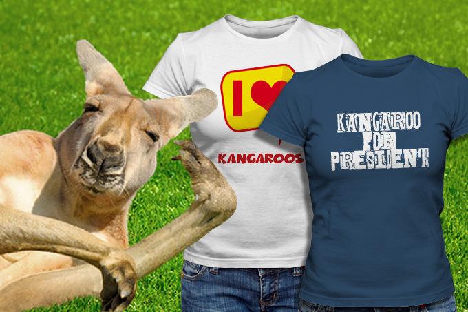 Känguru T-Shirts selbstgestalten