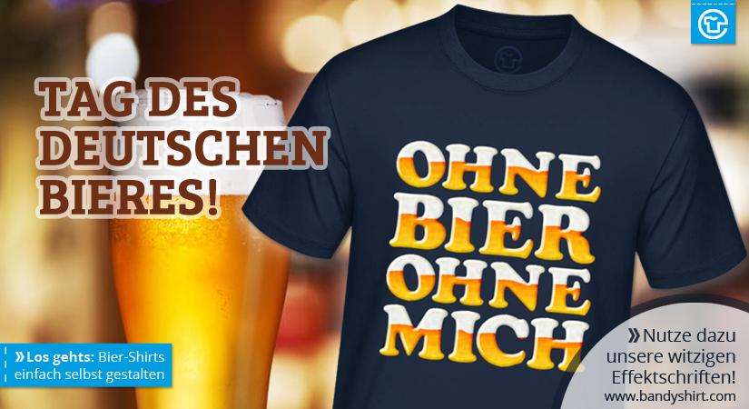 Bier T-Shirts selbst gestalten bei Bandyshirt