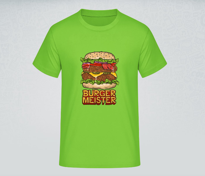 """T-Shirt mit Aufdruck """"Burger Meister"""""""